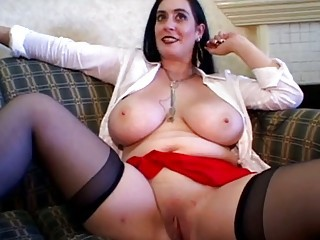 Big Tits Chubby  Natural Pussy Shaved Stockings