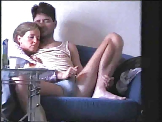 young lady knows how to wank hubby !