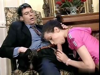 Blowjob Daddy Old and Young Teacher