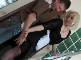 blonde russian older mommy and guy