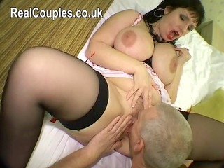 Amateur Big Tits Chubby Licking  Natural Stockings Wife