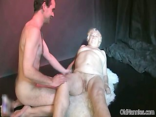 naughty old whore receives her slit pounded part4