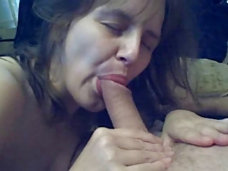 older wife fucks sucks coupled with swallows !