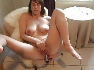 Amateur Dildo Homemade Masturbating   Solo Toy
