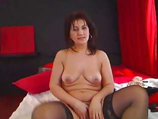 European Masturbating   Stockings