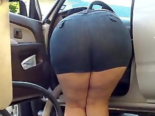 mommy bow over bulky - large a-hole - plumper a-hole - mature voyeur granny arse