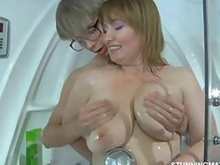 Big Tits Chubby Mature Mom Natural Old and Young  Showers