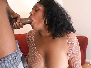 Big Tits Blowjob Chubby Ebony Fishnet  Natural