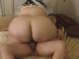 plump housewife licks &; bangs up tied up boobs