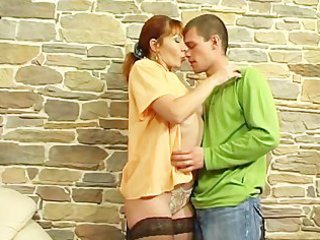 Mature Mom Old and Young Redhead Russian Stockings