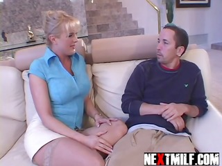 excited housewife dick slurping