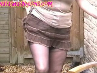 english milf in melancholic seamed fully fashioned stockings