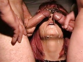 Amateur Bukkake Cumshot Facial Fetish Redhead Threesome Wife