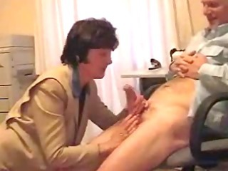Amateur Blowjob Clothed Mature Office Secretary