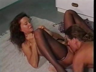 Licking Mature Mom Old and Young Stockings Vintage