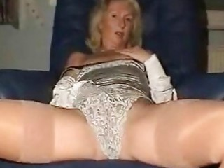 Amateur European German Homemade Lingerie Masturbating Mature Panty Solo Stockings