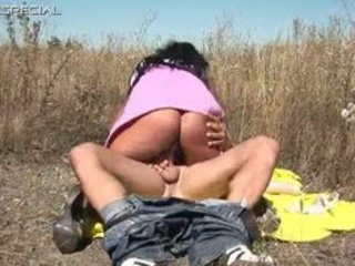 horny milf gets screwed hard outdoor part1