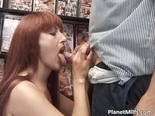 lewd red head wench enjoys in public part6