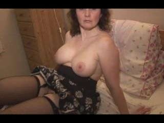 Amateur Big Tits Mature Mom Natural Stockings