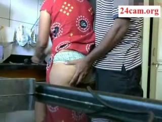 Amateur Homemade Indian Kitchen Wife