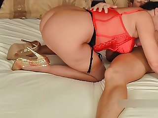 Ass Blowjob British European Lingerie