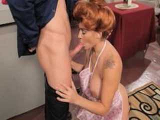Blowjob  Mom Old and Young Redhead Tattoo