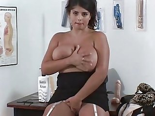 Bouncing Big Boob British MILF Testing Monster Dildos