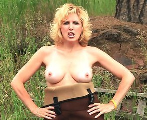 Blonde Mature Outdoor