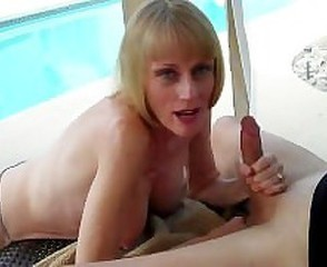 Amateur Cuckold Handjob Mature Pool Wife