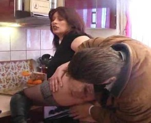 European German Kitchen Mature Wife