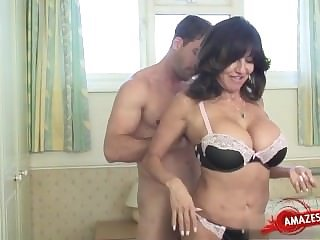 Amazing Bathroom Big Tits Brunette Lingerie  Mom Old and Young Pornstar