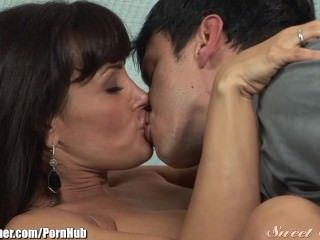 Brunette Kissing  Mom Old and Young