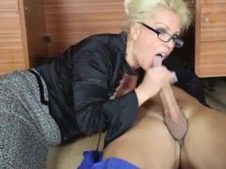 Blowjob Clothed Glasses  Pornstar Teacher