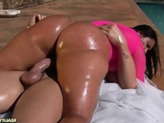 Ass Hardcore  Oiled Outdoor Pool Riding