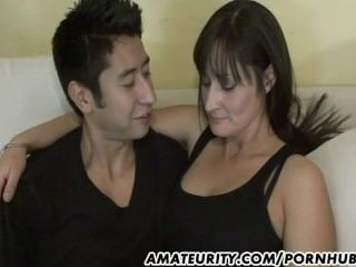 Amateur Brunette  Mom Old and Young