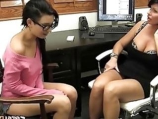 Daughter Lesbian  Mom Office Old and Young Pornstar