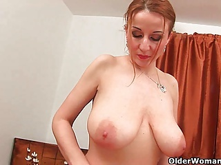Amazing Big Tits  Natural Redhead