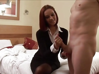 Amateur British Cumshot European Handjob  Secretary