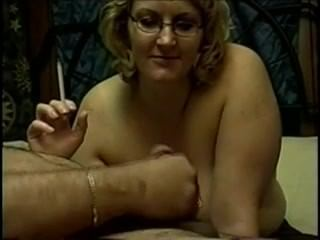 blonde;mature;smoking;fetish;milf;bj;blowjob;glasses;old