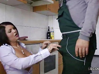 European German Handjob Kitchen  Pornstar
