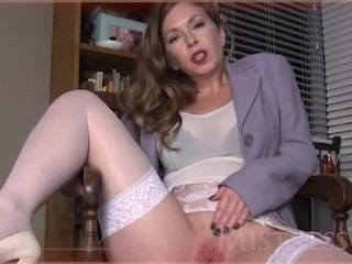 Masturbating  Shaved Stockings Teacher
