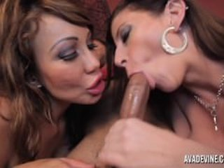 Blowjob  Pornstar Threesome