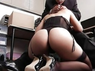 Amazing Ass Blowjob Corset Lingerie  Stockings
