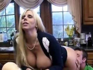 Amazing Big Tits Clothed Kitchen Licking  Mom Old and Young Pornstar