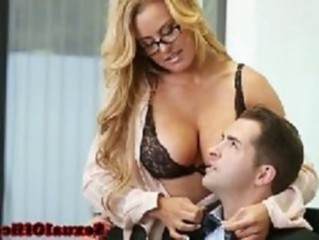 Amazing Big Tits Glasses Lingerie  Mom Old and Young Pornstar