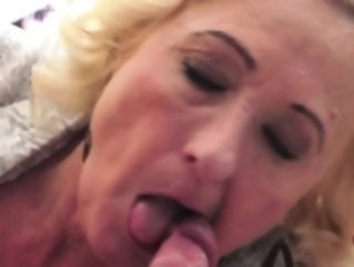 blonde, blowjob, granny