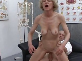 older  elderly albino marry piercing with nurse