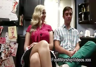 guy fucks and licks feet on d like to fuck in her kitchen