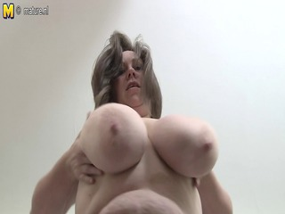 british housewife likes agreeable up her heavy tits