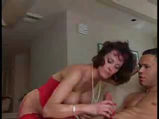 Handjob Interracial  Mom Old and Young